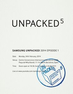 Samsung announces new Event most likely featuring the S5.