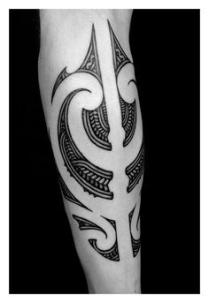 Maori Calf Tattoo    Tattooed by Shane Gallagher • ShaneTattoos.com