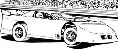 Drive Race Car Coloring Page