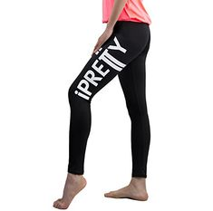 iPretty Women's Pro Sport Leggings Printed Full Length Active Leggings Joggers Gym Fitness Elastic Sports * More details can be found by clicking on the image. Sports Trousers, Sports Leggings, Printed Leggings, Women's Leggings, Joggers, Sweatpants, Gym Fitness, Gym Workouts, Pajama Pants