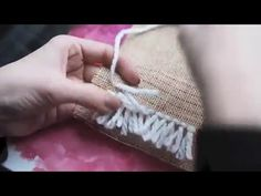 Curiouser & Curiouser: RYIJY - YouTube Diy And Crafts, Arts And Crafts, Rya Rug, Macrame Wall Hanging Patterns, Weaving Techniques, How To Make Bed, Ribbon Embroidery, Bottle Crafts, Rug Making