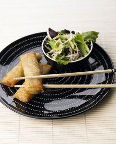 Crepes Chineses com Salada Oriental