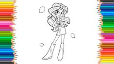 MLP My Little Pony: Equestria Girls Coloring BooK Sunset Shimmer is a gi...