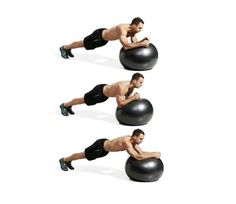 Best Ab Exercises to Get a Six-Pack — Swiss Ball Plank Circle - The 30 Best Abs Exercises of All Time - Men's Fitness