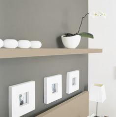 association de gris et couleur taupe et blanc pour une deco zen