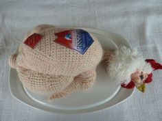 knitted chicken by Madame Tricot