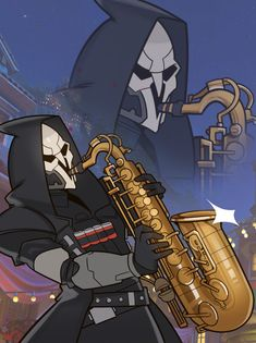 Overwatch, Reaper by SplashBrush.deviantart.com on @DeviantArt