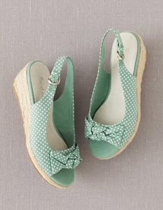 Mint Spotty Bow Espadrilles | Boden | too cute!
