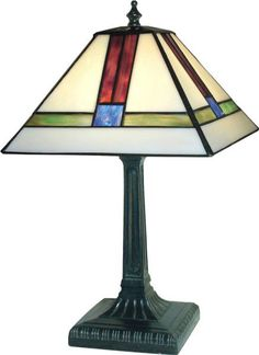 Paul Sahlin Tiffany 311 Mission T Tiffany Accent Table Lamp PST-311