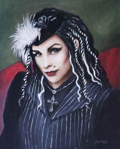 "Jun Jamosmos, ""Bella Luna"" | Oil on Canvas| $4,500 | Source: http://www.art-mine.com/artistpage/jun_jamosmos.aspx | Agora Gallery | Contemporary Fine Art | NYC, NY"