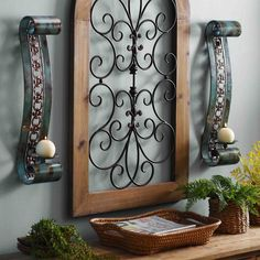 Needing to add dimension to your wall? Add both texture and color with a set of sconces now marked down 20% through 10/2! Not only does this pair offer beauty, but the Emery Turquoise Scroll Sconces also offer functionality with built-in candle holders to illuminate any room in your home.