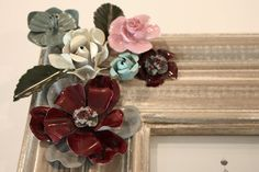 upcycle napkin rings, candle rings, metal flowers