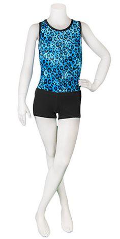 Blue Velvet Leopard Leotard (Alternate View) #leotard #leotards #gymnastics