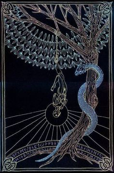 """Esoterically, the Hanged Man is the human spirit which is suspended from heaven by a single thread. Wisdom, not death, is the reward for this voluntary sacrifice during which the human soul, suspended above the world of illusion, and meditating upon its unreality, is rewarded by the achievement of self-realization."" ~ Manly P. Hall"