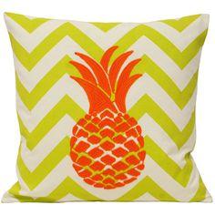 Malibu Pineapple Cushion Cover, Lime & Orange