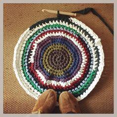 circle rag rug photo