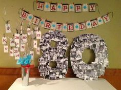 80th birthday photo collage decoration