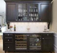 Bar for small space corner wet plans related post designs homes ideas basement design counter spaces . bar for small space breakfast . Farrow Ball, Home Bars For Sale, Dining Room Buffet, Built In Bar, Home Bar Designs, Bar Interior, Wine Fridge, In Vino Veritas, Kitchen Cabinetry