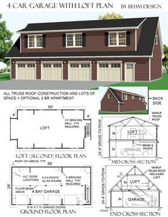 1000 images about garage plans by behm design pdf plans for 28x28 garage plans