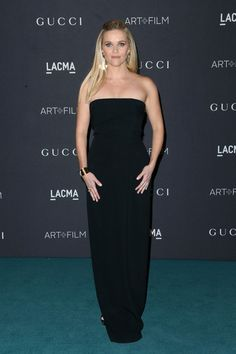 Reese Witherspoon Strapless Dress - Reese Witherspoon kept it understated yet elegant in a strapless black column dress by Brandon Maxwell at the LACMA Art + Film Gala.