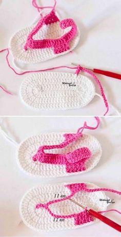 Cómo tejer sandalias crochet para bebé Crochet Baby Boots, Crochet Baby Sandals, Baby Girl Crochet, Crochet Baby Clothes, Crochet Shoes, Crochet Slippers, Knit Crochet, Baby Knitting Patterns, Baby Patterns