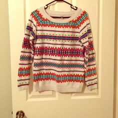 Thanksgiving SALEFair Isle Sweater Pretty colors. Warm | NO PAYPAL, NO TRADES, NO HOLDS; & all negotiations through the offer button, please ❤️ Old Navy Sweaters Crew & Scoop Necks