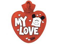 """HELLO SPANK BORSA ACQUA CALDA MY LOVE  Per riscaldare il tuo cuore� Borsa dell'acqua calda Hello Spank love in plastica di colore rosso con dedica """"MY LOVE."""""""