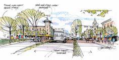 Quick urban design concept sketch | Flickr - Photo Sharing! Urban Design Concept, Urban Design Diagram, James Brown, Masterplan, Going Blind, Design Poster, Landscape Drawings, Urban Sketchers, Site Design