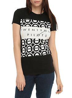 Twenty One Pilots Mask Girls T-Shirt, BLACK, hi-res