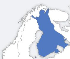 The area controlled by Finland at its largest, in 1942