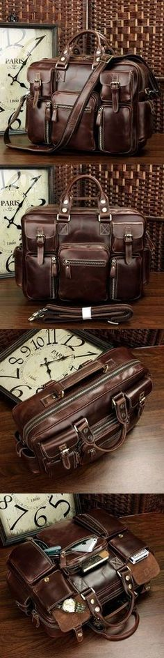 Handmade Leather Travel Bag / Tote / Messenger / Duffle Bag / Weekend Bag - Men's Bag / Women's Bag: