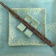 Aqua Ceramic Glazed Sushi Set