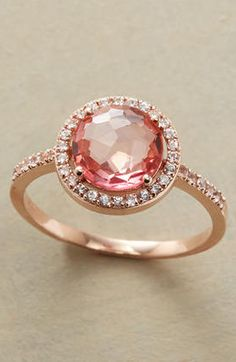Pink diamond and rose gold
