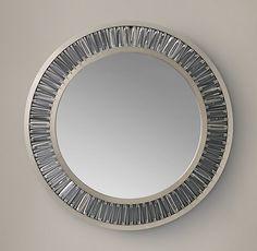 Lombard Prism Round Mirror Entry Mirror, Sun Mirror, Entry Hall, Restoration Hardware Store, Storage Mirror, Medicine Cabinet Mirror, Round Mirrors, Dining Room Design, Home Decor Inspiration