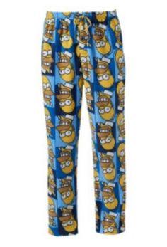 171b6c550c The Simpson s HOMER Fleece Pajamas Lounge Pants Men s Medium M NeW 32