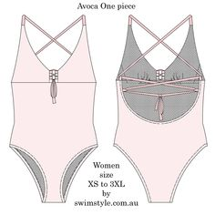 Avoca One piece sewing pattern by Swim Style  Make this beauty today!