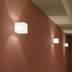 SKAPETZE -    Natch eckig / Wandleuchte mit Opalglas / nickel-glänzend Innenleuchten Wandleuchten