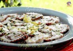 Polpo in bottiglia, secondo piatto o antipasto di pesce, buonissimo nella sua semplicità! bello da presentare in tavola.