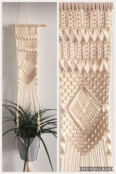Charming Hanging Plants ideas to Brighten Your Patio – Gardening Decor Wall Plant Hanger, Hanging Plant Wall, Macrame Wall Hanging Diy, Macrame Plant Holder, Macrame Art, Macrame Projects, Hanging Planters, Wall Planters, Macrame Knots