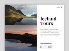 Iceland Travel Website – Teaser by Jan Erik Waider