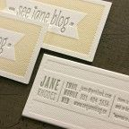 See Jane Blog Business Cards    http://www.beastpieces.com/2012/03/see-jane-blog-business-cards/