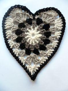 Crochet Granny Heart - Tutorial