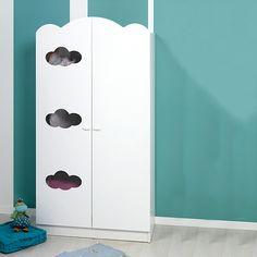 Cloud Armoire 2 portes blanche pour chambre d'enfant