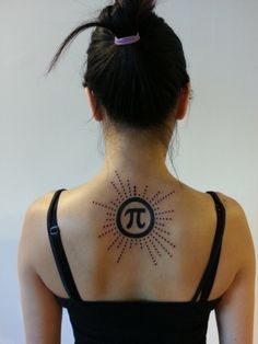 Pi tattoo-starting at the top, the dots represent the first 24 digits of pi