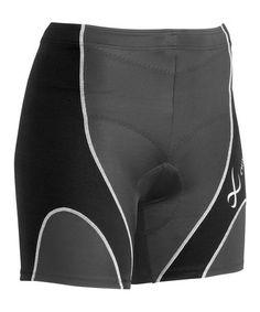 Look what I found on #zulily! Black & Gray Triathlon Shorts - Women #zulilyfinds $27.99