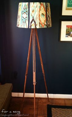 Tripod with a bright light at the top.  Hmmm......perfect symbolism.    @Erin Watkins @Nicole Locher