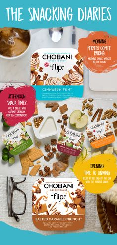 Snacks that make you crave a break in the day. Creamy Greek Yogurt meets crunchy mix-ins for a delicious anytime snack experience. Chobani Flip.