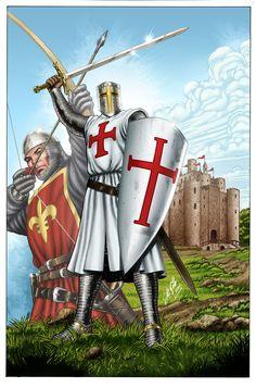 """Knights Templar:  """"#Templar #Knight,"""" by jocachi (Al Rio), at deviantART...FEB16"""