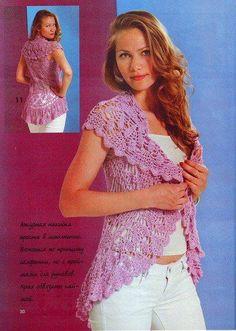 ružová kruhová vesta
