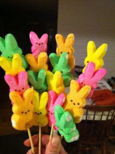 Bunny Peep-ka-bobs! So cute for Easter!